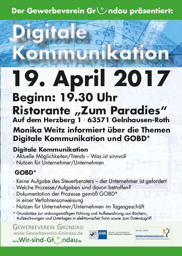 Digitale Kommunikation - Gewerbeverein Gründau 2010 e.V.